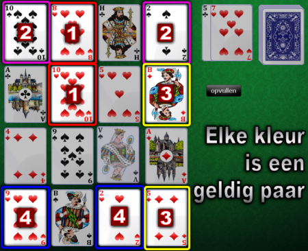 Aces Square: geldige paren