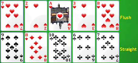 Poker Solitiare: pokerhanden